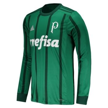 Camisa Adidas Palmeiras I 2017 Manga Longa b0d7eaa5eae2d